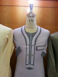 African Wear Styles For Men, African Attire For Men, African Clothing For Men, African Shirts, African Style, Nigerian Men Fashion, African Men Fashion, Kurta Men, Mens Kurta Designs