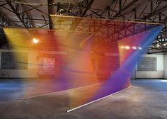 Gabriel Dawe. Made from thousands & thousands of different colour threads.