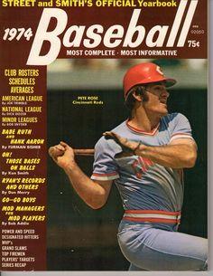 1974 Street & Smith's Baseball Yearbook, magazine, Pete Rose, Cincinnati Reds VG