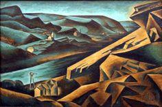 Bohumil Kubišta (Czech 1884– 1918) [Cubism, Expressionism, Osma (The Eight)] Pohled na cementárnu v Braníku (View of the cement plant in Bráník).
