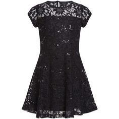 Little Girl's Sequin Lace Dress ($29) ❤ liked on Polyvore featuring dresses, kids, children and girls dresses