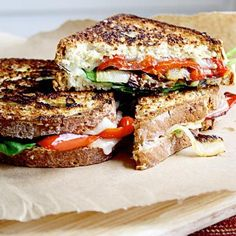 We love to dine al fresco (that means outside), because everything always tastes better when you're enjoying fresh air. Try this veggie-stuffed grilled cheese sandwich at your next outdoor get-together! Make it on the grill for a smokey, rich flavor! Grilled Cheese Recipes, Veggie Recipes, Vegetarian Recipes, Dinner Recipes, Healthy Recipes, Healthy Meals, Healthy Dishes, Potato Recipes, Eating Healthy