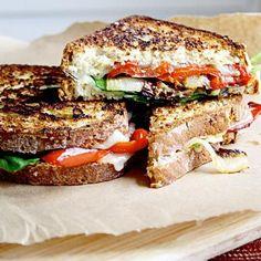 Veggie Stuffed Grilled Cheese Sandwiches