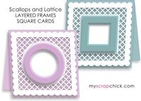 Scallop and Lattice Card with Layered Frames