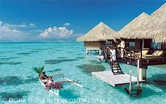 Overwater Bungalows  Bora Bora Intercontinental Resort  French Polynesia