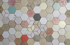 Wallpapering paper tiles by Dear Human