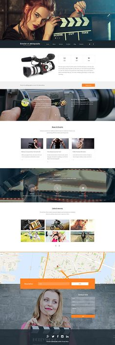 The biggest collection of HTML templates, WordPress and ecommerce themes, web graphics and elements online. TemplateMonster offers web design products developed by professionals from all over the world. Website Design Layout, Web Layout, Corporate Website Templates, Movie Website, Mobile Web Design, Best Wordpress Themes, Photography Portfolio, Web Design Inspiration, Wordpress Template