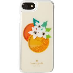 kate spade Orange Shaky Gems iPhone 7 Case - Cream Multi - Phone Cases ($41) ❤ liked on Polyvore featuring accessories, tech accessories, white and kate spade
