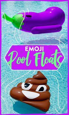Emoji themed pool floats!
