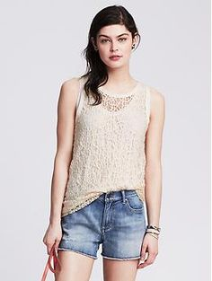 BR: Sheer Lace Trapeze Tank