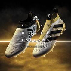 Take your game to another galaxy, never seen before! Get the #X16 and #Ace16 from the new adidas Stellar Pack! #FirstNeverFollows You never follow. Check out the shoes here: http://www.soccerpro.com/custompages/Adidas-Soccer-Cleats.html