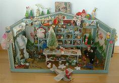 antique  miniature Christmas shop