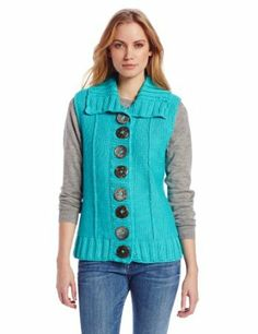 It's the 70's all over again. Pure Handknit Women's Deco Vest
