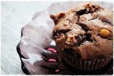 Suklaa-toffee-suolapähkinämuffinssit