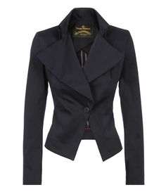 VIVIENNE WESTWOOD Navy Fable Jacket. #viviennewestwood #cloth #