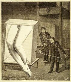 "kirgiakos: ""  …et la troisième fois manquée Max Ernst original collage from""La femme 100 têtes"" c.1929 gravure prints on paper, mounted on cardboard. """