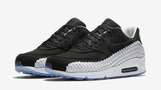 Nike Air Max 90 Woven Black White 03