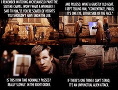 ah the impatience of a time traveler. This was one of my favorite 11 moments :) He's just like a little kid...