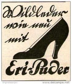 Original-Werbung/ Anzeige 1924 - ERI PUDER FÜR WILDLEDER - ca. 35 x 40 mm