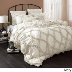 Lush Decor comforters and quilts make it easy to create a stylish room. Shop our bedding and comforter sets in a range of fabrics and patterns. Home Bedroom, Master Bedroom, Bedroom Decor, Master Suite, Gray Bedroom, Bedroom Ideas, Queen Comforter Sets, Bedding Sets, King Comforter