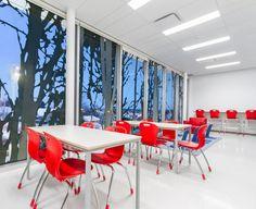 Photo : Dave Tremblay. Source : CCM2 École primaire Boréal par CCM2 architectes et Onico architecture, Boischatel, Québec. Photo : Dave Tremblay. Source : CCM2 architectes. .
