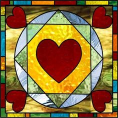 Stained Glass Hearts...Hearts are difficult to cut. I would use a band saw made specifically for glass to cut one.