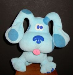 "Blues Clues ""Blue"" One Paw Print  8"" Detective Dog FStuffed Animal Plushie"