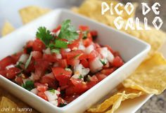 PICO DE GALLO    4-5 plum tomatoes, diced  1/2 of a sweet onion, chopped  1/2 bunch cilantro, chopped  juice from 1 large lime  1-2jalapenos(optional-just adds some extra spice), chopped