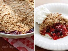 Triple Berry Crisp - anyone ready for some dessert? I am!