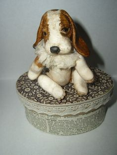 OOAK Shabby Baby Jointed Baby Beagle Puppy Polymer Clay by Toodlesocks | eBay
