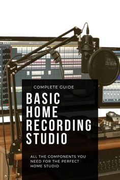 A full guide both on a basic home recording studio setup as well as the ideal on. - A full guide both on a basic home recording studio setup as well as the ideal on. A full guide both on a basic home recording studio setup as well as the ideal one. Home Recording Studio Setup, Home Studio Setup, Music Studio Room, Sound Studio, Home Recording Studios, Vocal Recording Studio, Music Recording Equipment, Recording Booth, Studio Ideas