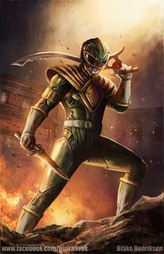 Green Ranger Concept Art by pinkhavok.deviantart.com on @DeviantArt