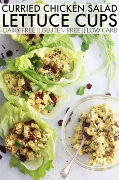 You have got to make a batch of this dairy free and low carb Curried Chicken Salad Lettuce Cups for your lunches this week! They're so flavorful! Lunch Recipes, Paleo Recipes, Dinner Recipes, No Heat Lunch, Low Carb Curry, Salad Places, Eat Yourself Skinny, Lettuce Cups, Chicken Curry Salad