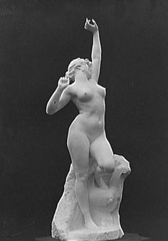 """""""Bello Matinado"""" by Félix Charpentier [ Sculpture ] Born in Bollène, Félix Charpentier (1858-1924) is an iconic sculpture of the Belle Epoque , receiving numerous public commissions . She is a naked young woman stretching at the foot of a bed , a pretext for any of these buxom female nudes favorite subject Charpentier . The original cast was exhibited at the Salon of French Artists in 1907 and a marble version the following year. Our version is a plaster cast"""
