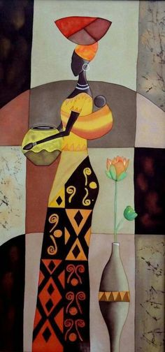 Using Art and Crafts in African Decor African American Art, African Women, Black Women Art, Black Art, African Quilts, Afrique Art, African Art Paintings, Art Tribal, African Theme