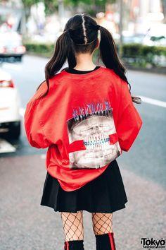 Japanese Street Fashion, Tokyo Fashion, Harajuku Fashion, Kawaii Fashion, Girl Fashion, Japanese Streetwear, Cheer Skirts, Street Wear, Street Style