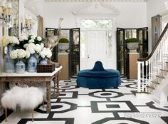 Dramatic entry, painted floor Another Design by Melanie Turner