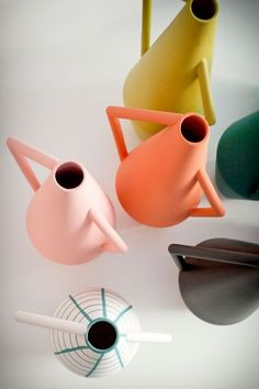 Home Decor Objects Ideas : Colored Kora Vases by Studiopepe Ceramic Pottery, Ceramic Jugs, Kitsch, Home Deco, Industrial Design, Color Inspiration, Color Patterns, Home Accessories, Clay