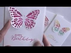 lcard making video: Irresistible Butterflies using Butterfly Thinlits Dies