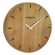 Elis Solid Wood Wall Clock by London Clock Company. Get it now or find more Clocks at Temple & Webster.