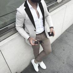 Mens Fashion Night Out Mens Fashion Blog, Fashion Mode, Fashion Night, Suit Fashion, Look Fashion, Mens Smart Fashion, Fashion Beauty, Daily Fashion, Paris Fashion