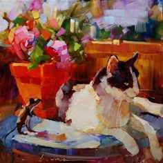"Daily+Paintworks+-+""Table+for+One++SOLD""+-+Original+Fine+Art+for+Sale+-+©+Dreama+Tolle+Perry"