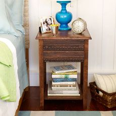 a bedroom side table