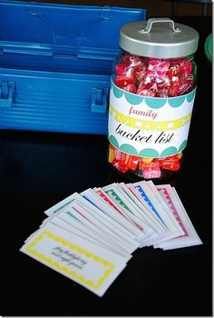 We could get a box and put things to do when people are bored and people  pick one and when they finish the thinig on the card they can choose a treat.