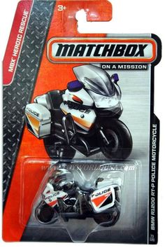 2014 Matchbox #73 MBX Heroic Rescue BMW R1200 RT-P Police Motorcycle