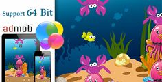 Flappy Fish with Admob and Gamecenter 64bit . Flash
