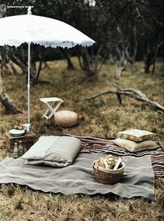 I'm loving this. Let's have a super fancy picnic by somewhere with water. We cook stuff or just make sandwiches.
