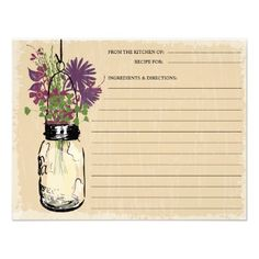 ShoppingBlue Mason Jar Recipe Cardyou will get best price offer lowest prices or diccount coupone