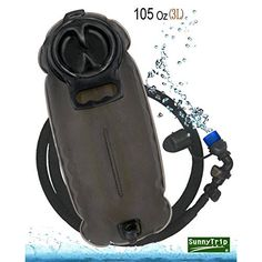 BONL Emerald Hydration Bladder(Best Rated) 100 Oz/3-Litres, Military Class Quality Water Reservoir, Wide-Opening, Tastefree for Hiking, Bike Trip, Climbing, Hydro Backpack, Outdoor Event,Choose the Most Durable,Easiest to Clean,Healthiest One Now!