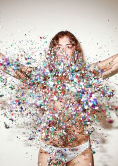 whoa-We just (kinda) did this in the studio today! I had way too much fun with the glitter! :D